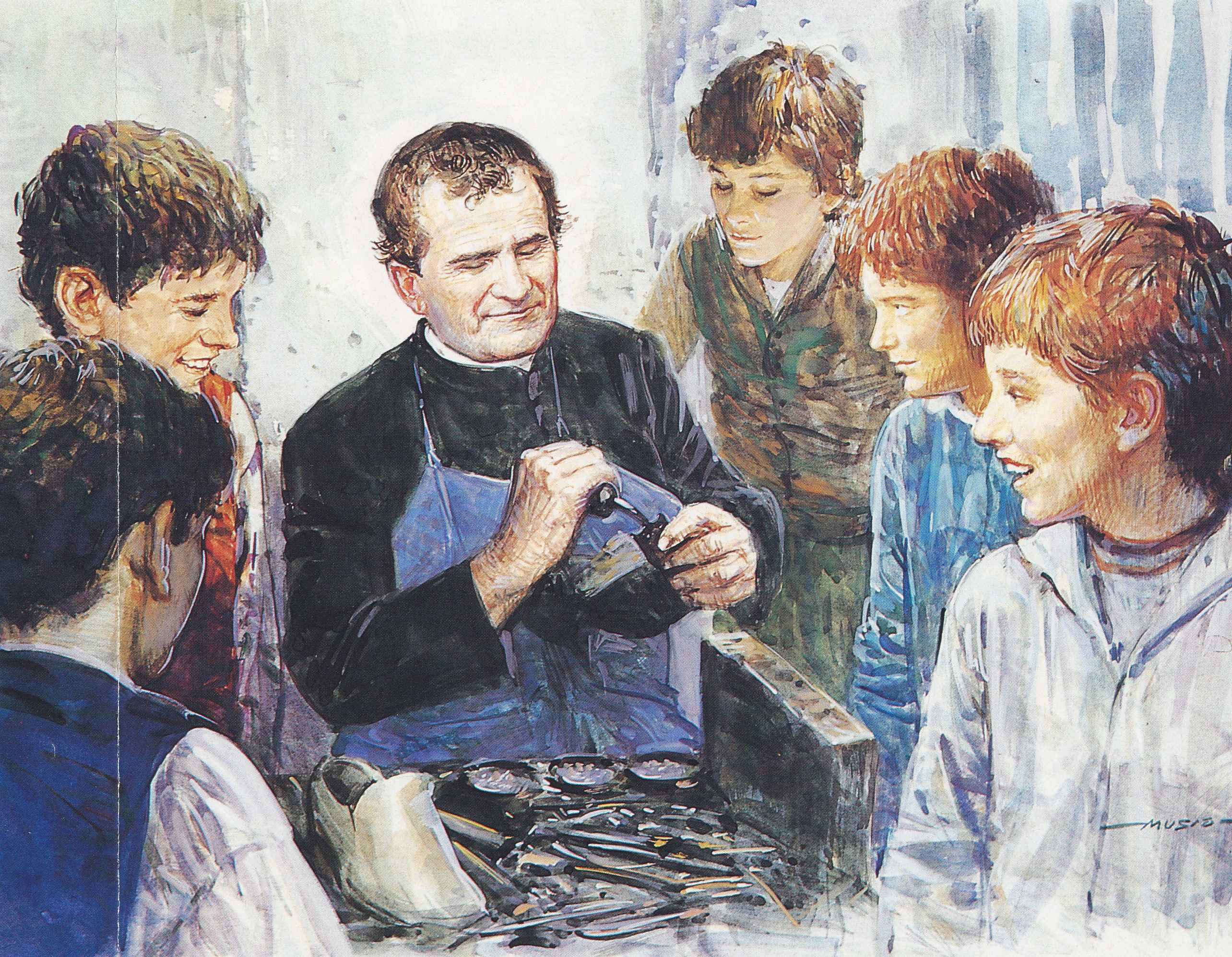 don-bosco-mending-shoes